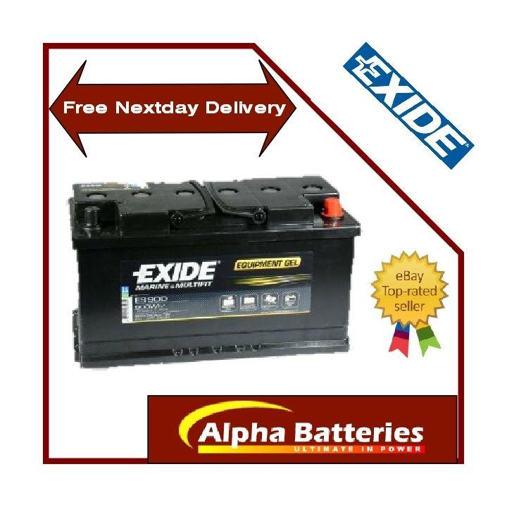 12v exide 80ah gel g80 es900 leisure battery ebay. Black Bedroom Furniture Sets. Home Design Ideas